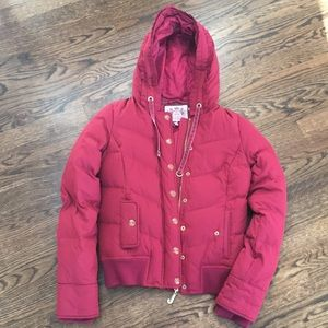 Juicy Couture pink bomber down jacket (SP)